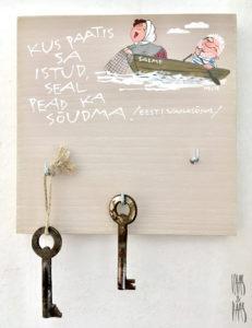 Vaas&Vaas_puidust kodusisustus _võtmenagid_keyracks_kingitus_käsitsi_maalitud