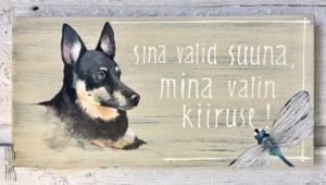 Vaas&Vaas_puidust kodusisustus _sildid_maja silt_koera silt_käsitsimaalitud