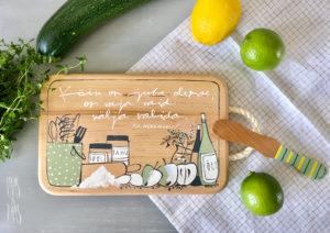 Vaas&Vaas-puidust kodusisustus –lõikelaud-choppingboard-käsitsi maalitud-köögitarvikud-köök