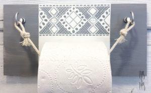 Vaas&Vaas puidust kodusisustus –wc paberihoidja- tualettpaberi hoidja-käsitsi maalitud-kodu-kodusisustus