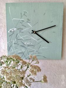 Vaas&Vaas-puidust kodusisustus-seinakell-wallclock-käsitsi maalitud
