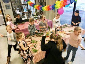 Laste sünnipäevapidu koos meisterdamisega Kolme Karu kaubamajas